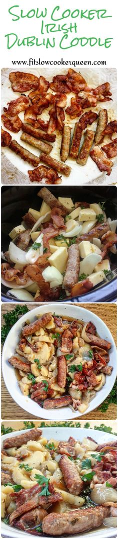 This easy PALEO (those are white sweet potatoes) Irish slow cooker recipe uses only a few simple ingredients. This recipe is great for St. Patrick's Day. #slowcooker #crockpot