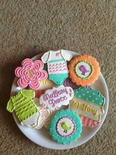 Items similar to Little Birdie Shower Cookies / One Dozen on Etsy Bird Cookies, Fun Cookies, Decorated Cookies, Dip Recipes, Snack Recipes, Snacks, Healthy Eating Recipes, Diabetic Recipes, Baby Shower Cookies