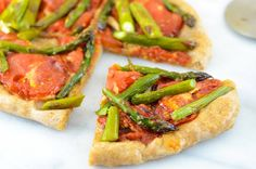 Vegan Roasted Asparagus and Tomato Pizza With Spelt Pizza Crust   Girl Makes Food