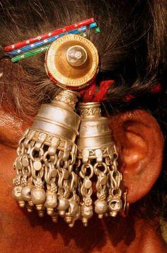 India | Details; woman's temple ornament.  Orissa. | ©Rudi Roels