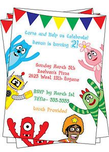 yo gabba gabba pictures to printable pictures | yo gabba gabba 4, Birthday invitations