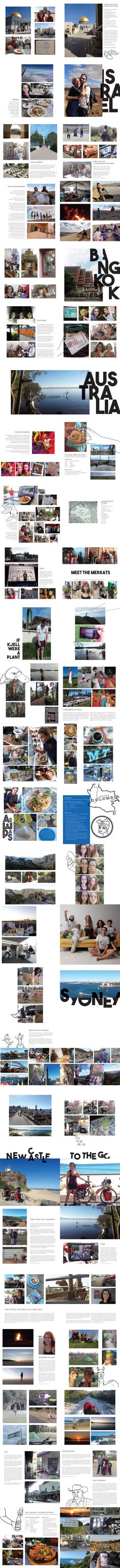 GGraphics Travels 2017 A selection of pages from Gunbritt Genuit's travel book of A collection of travel stories, recipes and pictures of Israel, Thailand and Australia. Freelance Graphic Design, Israel, Thailand, Australia, Books, Recipes, Pictures, Collection, Photos