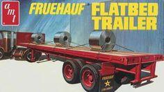 1/25 Fruehauf Flatbed Trailer (amtamt617) AMT Plastic Model Cars Trucks Vehicles 1:20-1:29 Scale
