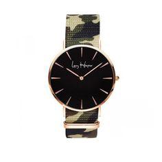 Nouveau modèle Leny Harper : la montre Swan Rebel, pour tous les amoureux du motif militaire / camouflage. Cette superbe montre en fond noir va sans aucun doute vous séduire.