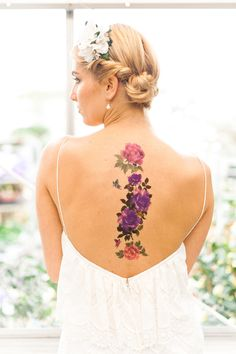 Floral tattoo!   Photography: Anushé Low - anushe.com  Read More: http://www.stylemepretty.com/destination-weddings/2014/04/23/botanical-wedding-inspiration/