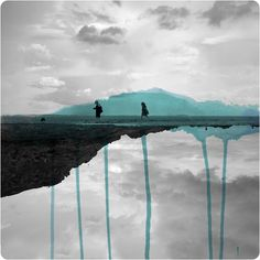 Mirrored Photographs Combined with Watercolor by Fabienne Rivory | Colossal