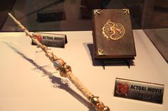 "Disney ""Descendants"" props - Mal's spell book and Fairy Godmother's wand"