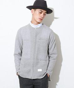 2015秋に本格的流行の兆し!5分でわかるメンズノーカラーシャツの着こなしの画像 Men Sweater, Sweaters, Shirts, Fashion, Changing Room, Moda, Fashion Styles, Men's Knits, Sweater