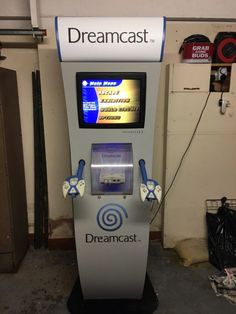Sega Dreamcast Shop Kiosk Including Monitor  #retrogaming #HotDC  Includes Kiosk Dreamcast console 2 x Controllers and Panasonic monitor. Top display needs a new bulb. Collection only from the UK.