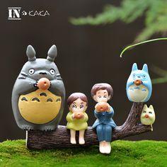 Anime My Neighbor resin crafts kawaii Totoro set micro fairy garden miniature decor figurine action figure terrarium movie props