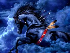 Fantasy Love   Download HD tief blaue Pferd Tapete-Fantasie- 1600x900 - Kostenlos ...