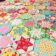 """In March I wrapped up a lap size 2"""" hexie EPP quilt; I am pretty sure I neglected to blog pics of the finished quilt, so maybe I will get..."""