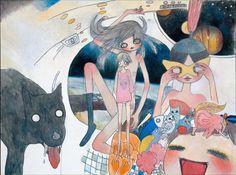 Aya TAKANO, 'Space Acrylic on canvas; x x 1 feet x x cm; Aya Takano, Superflat, Manga Artist, Sketchbook Inspiration, Wall Collage, Cute Drawings, Female Art, Cyberpunk, Art Inspo