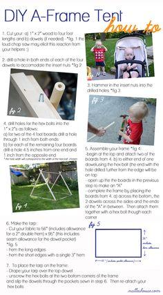 DIY A-Frame Tent.