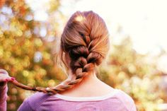 """Someday I will learn how to french braid my own hair (great for those """"I didn't have time to shower"""" days)... I've been practicing for years now and it still kind of looks like I slept on my hair three days in a row after I've done it! haha :) Someday..."""
