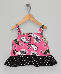 Take a look at this Pink Paisley Ruffle Tank - Toddler by Sweet Katie on #zulily today!