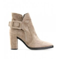 Roger Vivier Suede Peppy Ankle Boots Tan