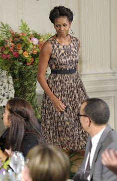 Michelle Obama Print Dress