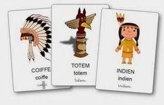 http://dessinemoiunehistoire.net/L'imagier des indiens à imprimer, imagier indien d'Amérique maternelle