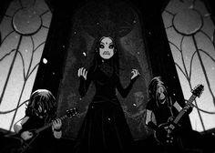Summoning Demons, Goth Music, Gothic Metal, Metal Albums, Fun Comics, Metalhead, My Favorite Music, Metal Bands, Goth Girls
