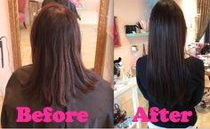 before and after shots of hair extensions! Hair Extensions, Shots, Long Hair Styles, Beauty, Weave Hair Extensions, Beleza, Hair Pieces, Extensions Hair, Long Hairstyle