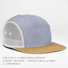 8c49531e967ec c20-CTM    5 Panel Trucker - Cotton Twill   Mesh    Custom Strapback —  CAPTUER HEADWEAR