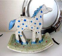 Blue Horse, Pottery, Clay, Horses, Candles, Birthday, Handmade, China, Animals