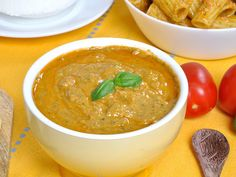 Ricette Bimby: Pesto alla Siciliana Bimby I Companion, Marinade Sauce, Cooking Chef, Curry, Food And Drink, Ethnic Recipes, Desserts, Ricotta, Mousse