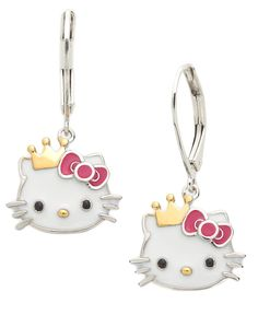 Aliexpresscom Buy Cute Hello Kitty Earring with Crown from