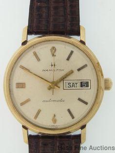 Running Large Vintage Day Date Hamilton Mens Wrist Watch 2 Restor #Hamilton