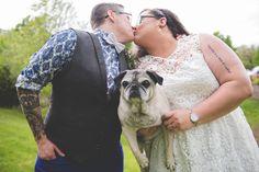 Cheri + Rachel's Same Sex Morris Museum Wedding || New Jersey Weddings || BG Productions Photography || www.bgproonline.com #petsatweddings