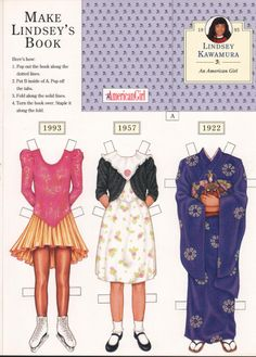 American Girl Paperdoll, with Japanese heritage