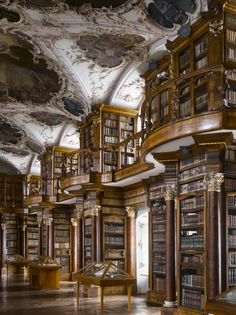 Abbey of St Gall Library, 1763. St Gallen, Switzerland