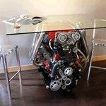 So what if it came from a boat It's an awesome engine and its in the house now... as a TABLE!
