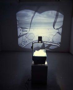 Helen Maurer | Helen Maurer Over Exposed, glass model on an overhead Projector