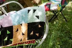 Quilts & Patchwork - narzuta patchwork dziecięca trójkąty - ein Designerstück von dom-artystyczny bei DaWanda