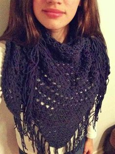 Knit+Triangle+Scarf// #handcrafted #scarf #wrap