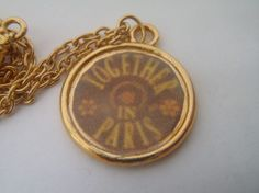 Anastasia Together in Paris Gold Necklace by Forthelovers on Etsy, $25.00