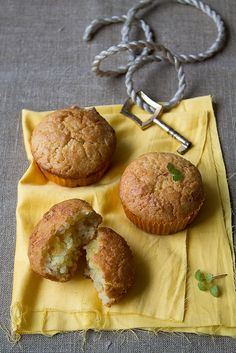 Lemon Curd Marble Muffins