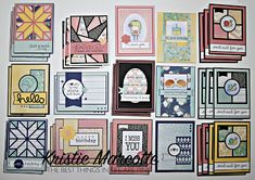 The best things in life are Pink.: Carta Bella's Hello Again 6x6 cards
