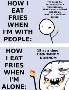 How I Eat Fries