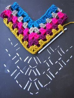 Ideas For Crochet Shawl Pattern Free Diagram - Diy Crafts Crochet Poncho Patterns, Crochet Shawl, Crochet Stitches, Knitting Patterns, Free Knitting, Scarf Patterns, Crochet Baby Poncho, Knitting Scarves, Knitting Videos