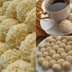 Home-made Rafaello - delecious! Cupcake Recipes, Dog Food Recipes, Quick Recipes, Healthy Recipes, Daily Meals, Food And Drink, Homemade, Breakfast, Cookies