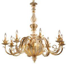 Italian Carved Eight Light Chandelier