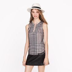 Silk gingham top from J.Crew. It's on sale and you can save an extra 40% off with code EXTRA40