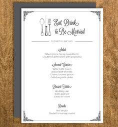 Printable vintage wedding menu (DIY!)