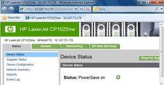 Laserjet CP1025nw / Web Services