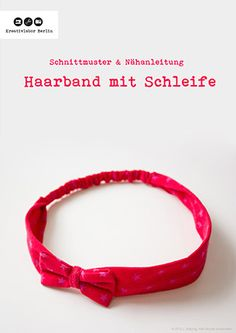 Haarband mit Schleife in 5 Größen (Baby bis Erwachsene)kostenloser Schnitt und Nähanleitung