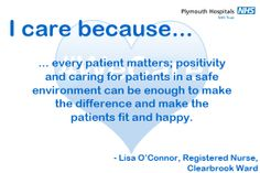 This is why Lisa, a Registered Nurse on Clearbrook Ward, cares. Midwifery, I Care, Lisa, Positivity, Optimism