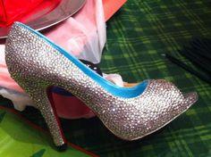 DIY rhinestone shoes